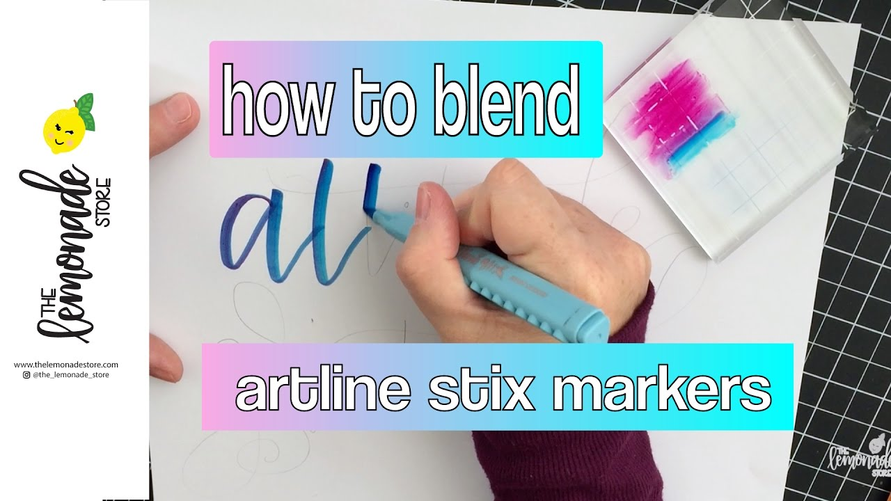 Artline : Lettering with artline stix markers how to blend colors for an