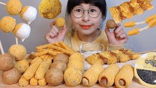 SUB)BHC 뿌링클 사이드 먹방, 치즈볼 소떡소떡 핫…