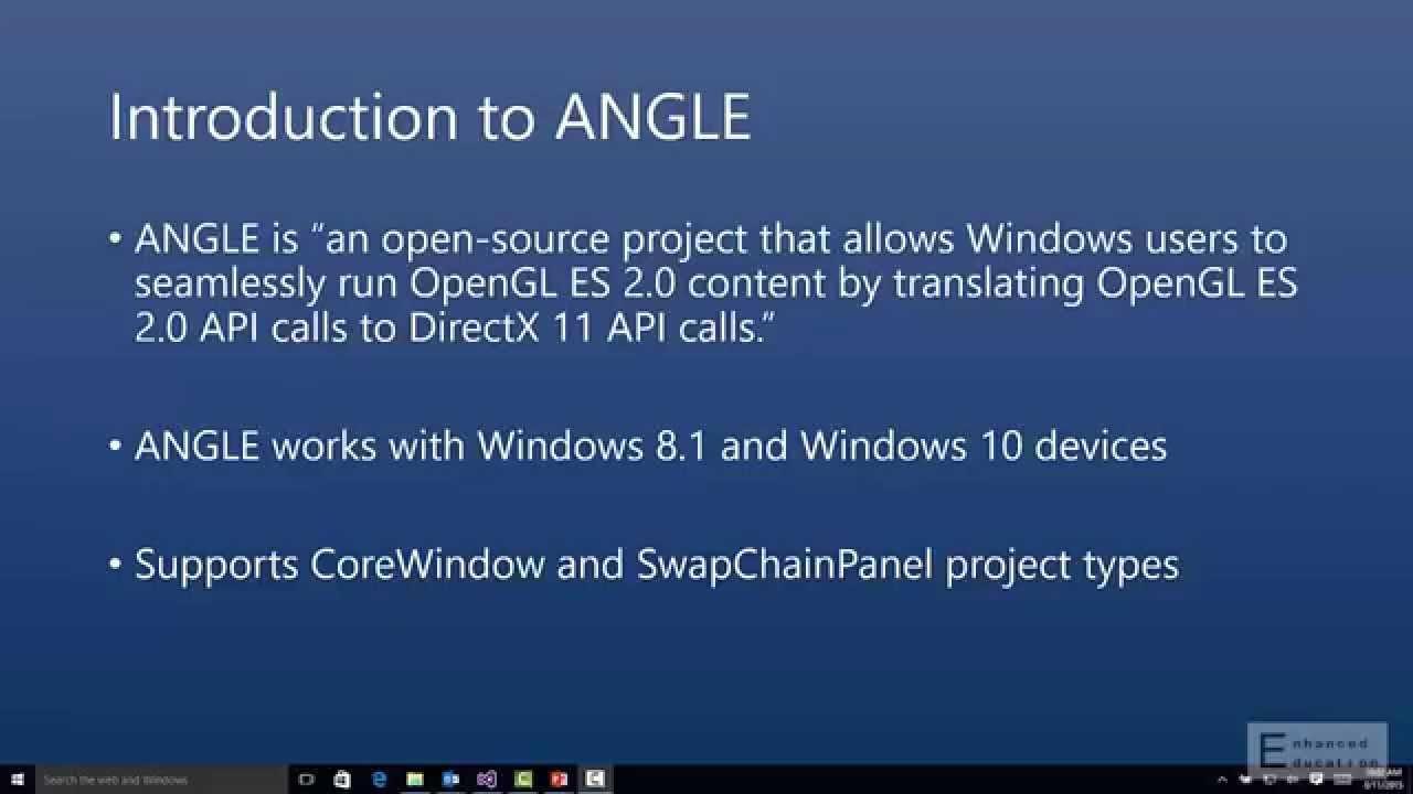 angle opengl es 2.0 windows 10