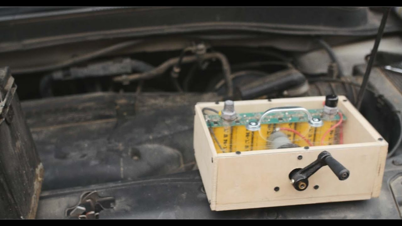 Hand Cranked Generator Charges Supercaps, Starts Car | Hackaday