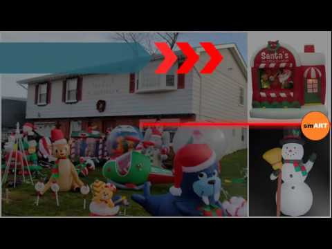 outdoor xmas decorations inflatable christmas decorations - Inflatable Outdoor Christmas Decorations