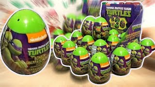 Teenage Mutant Ninja Turtles 2 video TMNT movie nickelodeon 18 kinder surprise eggs thumbnail