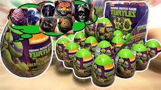 18 Teenage Mutant Ninja Turtles Surprise Eggs Opening TMNT movie nickelodeon #68