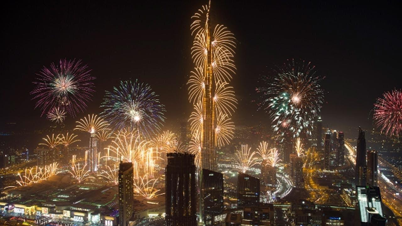 Dubai Silvester Feuerwerk Burj Khalifa 2019 Youtube