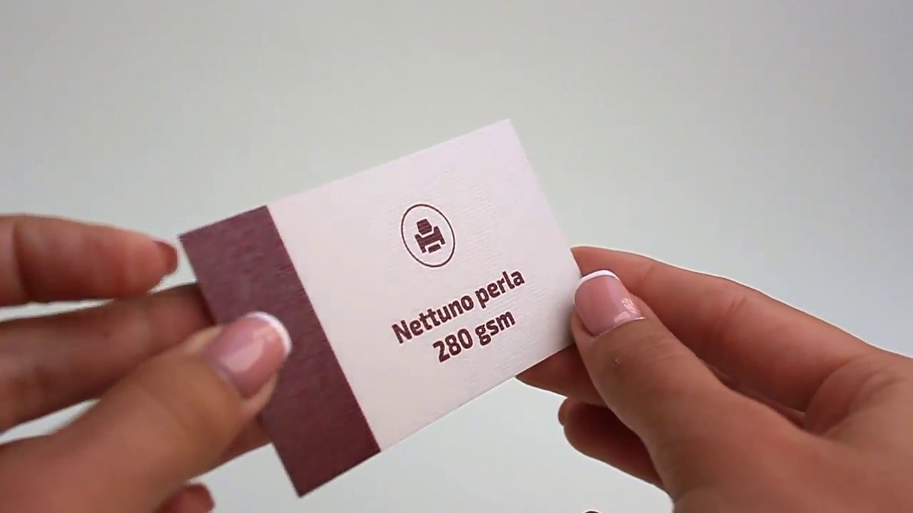 Business Card Cardboard Nettuno Perla - YouTube