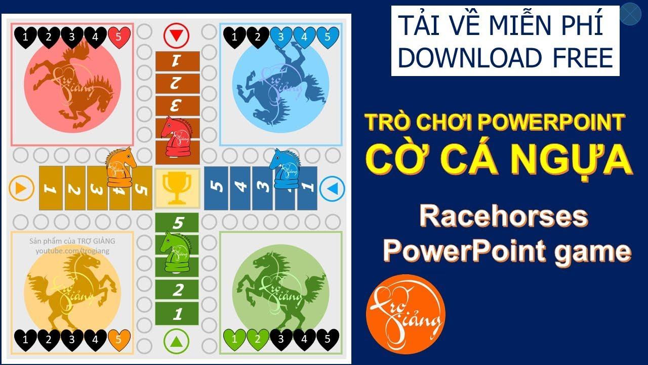 Trò chơi PowerPoint CỜ CÁ NGỰA | Racehorses  PowerPoint game | Tải về miễn phí | TRỢ GIẢNG