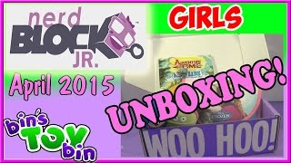 Nerd Block Jr. Girls Unboxing - April 2015! By Bin's Toy Bin
