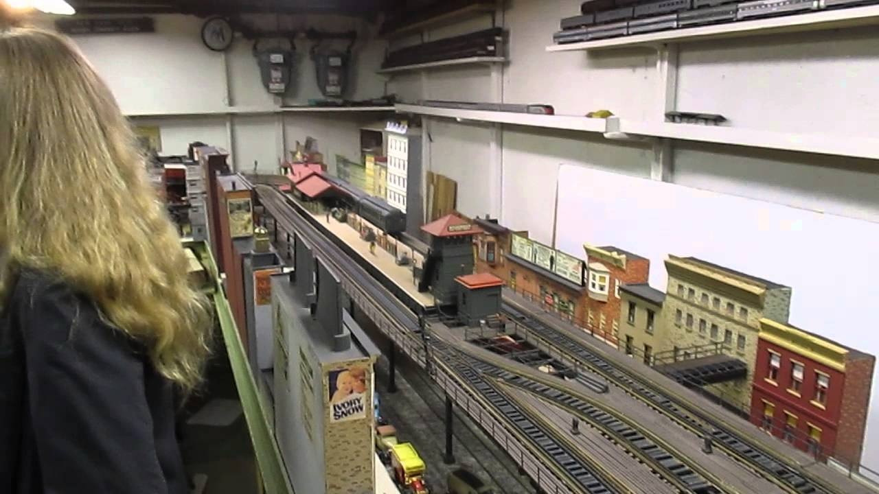 Joe F O Scale Elevated Train Layout Youtube