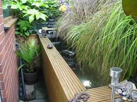 Wooden koi pond new youtube for Wooden koi pool