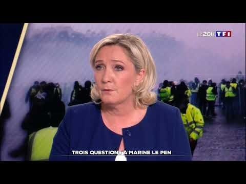 Marine Le Pen au JT de TF1 - #GiletsJaunes