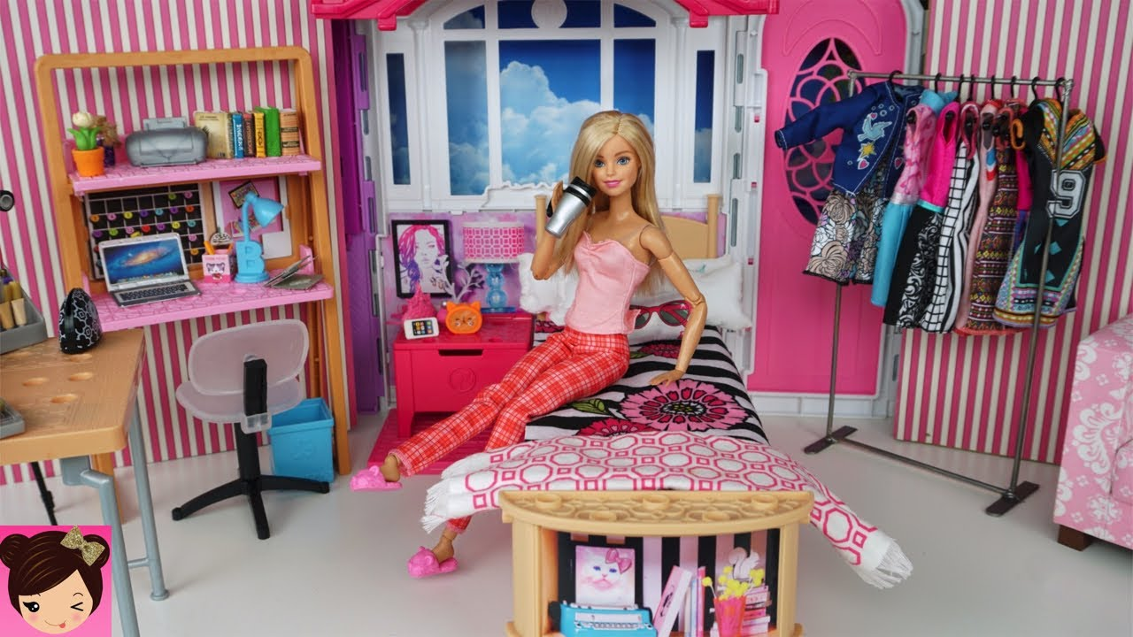 Barbie Bedroom In A Box: Barbie Youtube Morning Routine