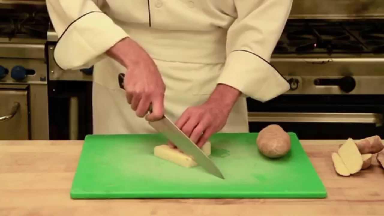 cube cut potato