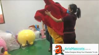 Video of How to Wear Daniel Tiger Mascot Costume Funny Mascot Costumes for Adult
