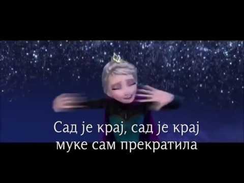 Залеђено краљевство - Сад је крај (српски текст) HD, Frozen - Let It Go (Serbian lyrics)