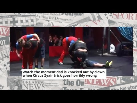 The Newspapers: Dad knocked out by clown?