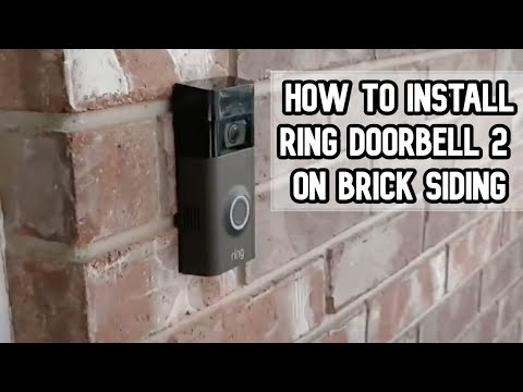How To Install Ring Doorbell 2 On Brick Siding Of Your