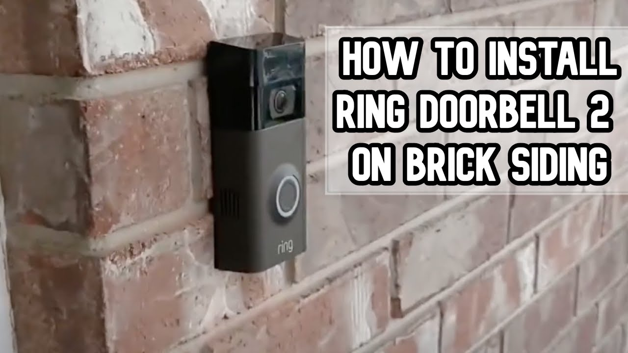 hight resolution of how to install ring doorbell 2 on brick siding of your home diy video diy ring