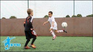Learn Rainbow Flick - Kids Neymar football soccer skills - STRskillSchool LittleSTRs