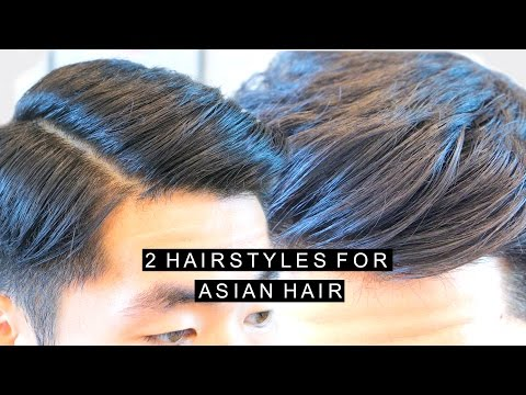 2 Hairstyles for Asian Hair | High Volume Quiff | Comb Over Side Part | Popular Hairstyle For Men