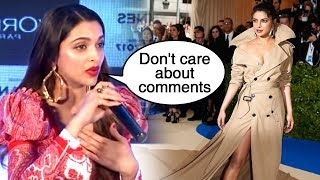 MET GALA | Deepika Padukone BEST REACTION On Priyanka Chopra's Dress | Throwback