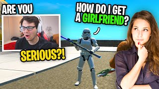 This kid on Fortnite asked me how to Get a GIRLFRIEND... (random duos)