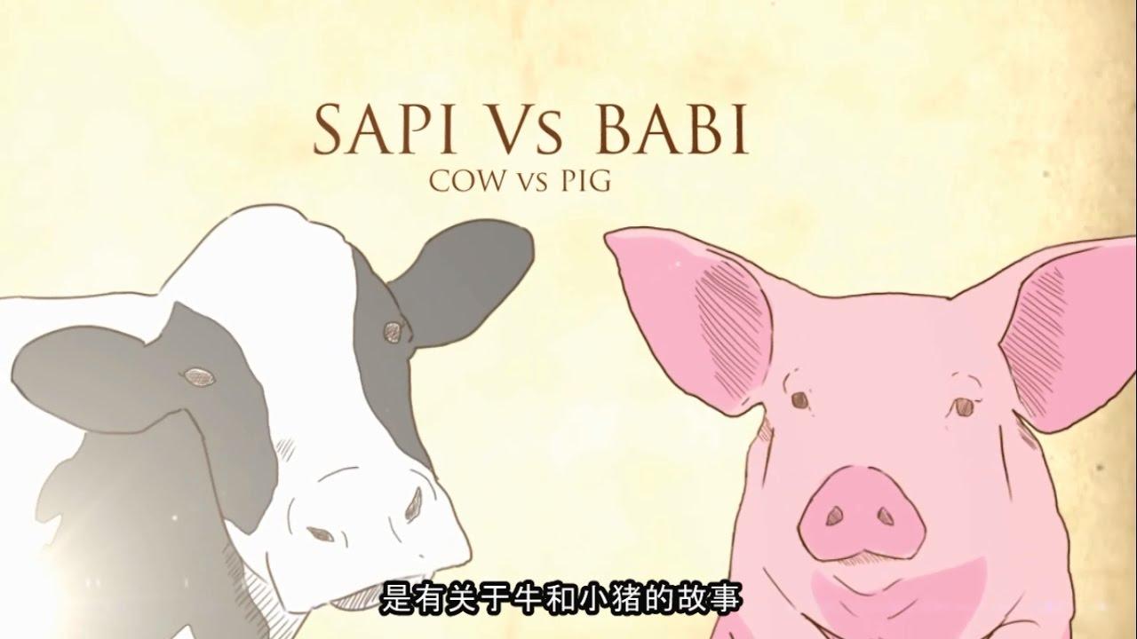 Hasil gambar untuk babi dan sapi animasi