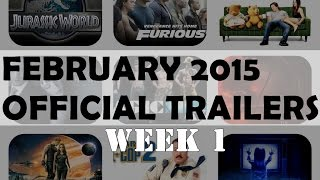 2015 New Upcoming Movies - February 2015 Official Trailers (Week 1) [HD]
