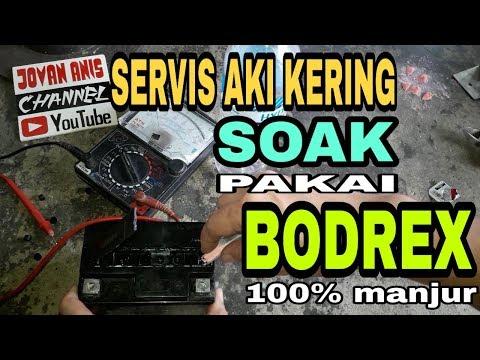 Memperbaiki Aki Kering Soak Pakai Obat Bodrex Manjur 100 Youtube
