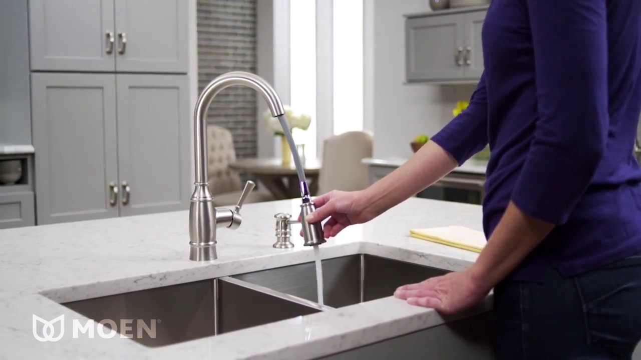 Noell One Handle High Arc Kitchen Faucet Youtube
