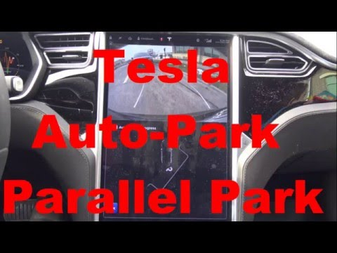 Tesla Model S: Auto Park Parallel Park How To/First Time Use