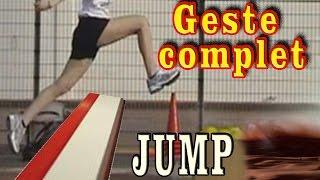 Comment sauter plus loin en saut en longueur, le geste complet.