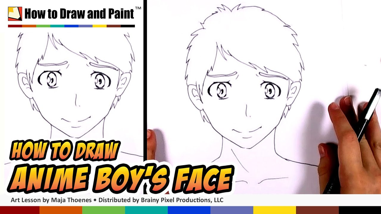 How To Draw A Anime Boy Face How To Draw Manga Boy Mlt Youtube