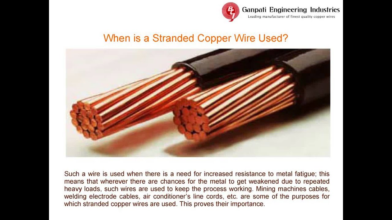Why Should You Buy Branded Stranded Copper Wire - YouTube