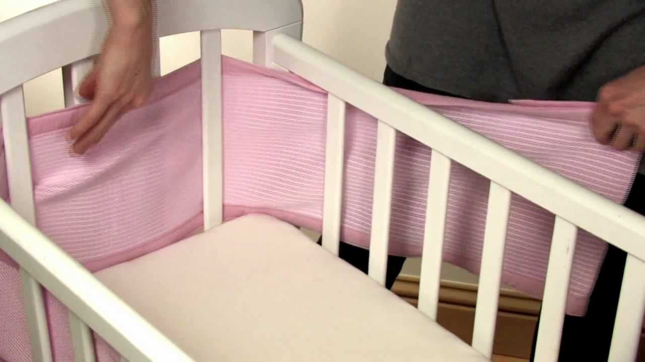 How To Install A 4 Sided Cot Wrap On A Crib Youtube