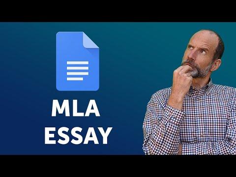 Google Docs - Setup your MLA Format Essay   New 2018 Features