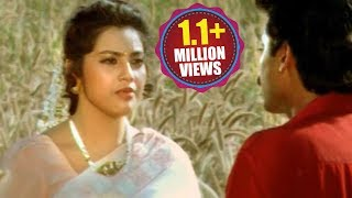 Suryavamsam Scene - Meena Asking For Love To Bhanu Prasad - Venkatesh, Raadhika, Meena