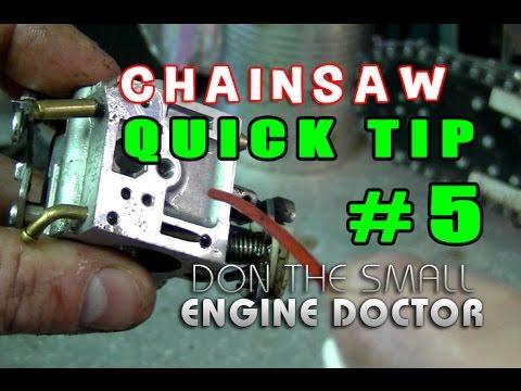 Chainsaw Quick Tip #5 - Plugged Carburetor Problems & Repair