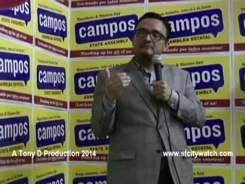 David Campos Campaign HQ Kick Off Party
