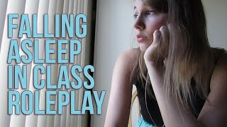 [ASMR] Falling Asleep in Class Roleplay (soft speaking, yawning, breathing)