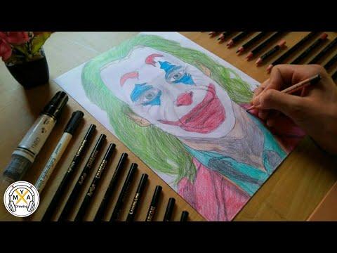 Drawing Joker (Joaquin Phoenix) by hand #24 | M.Y.A Drawing