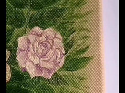 Как нарисовать розу# рисуем маслом  розу  по сырому !