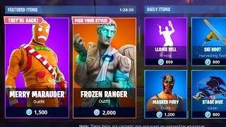 Gingerbread Skins Are Back | Merry Marauder + Ginger Gunner | Fortnite Item Shop Dec 21