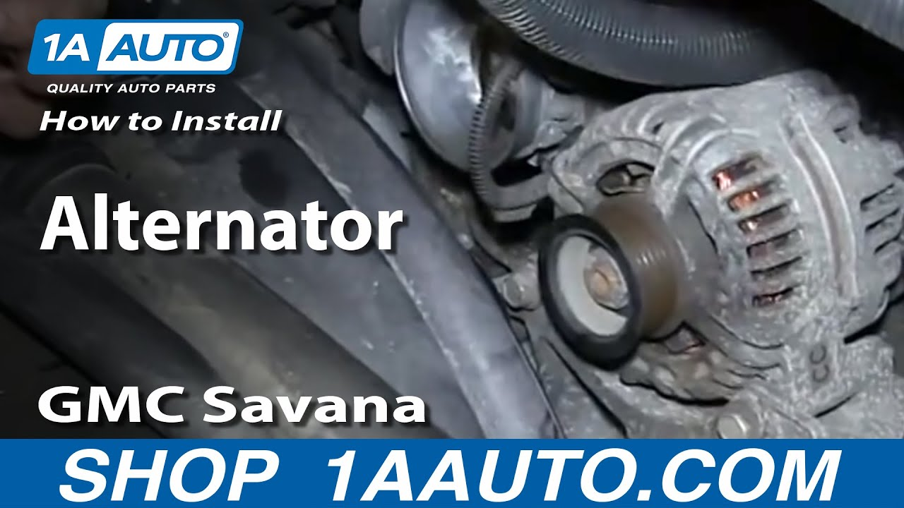 replace alternator   gmc savana ll youtube