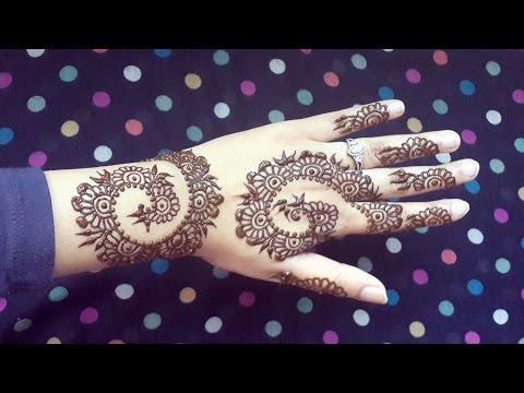 Henna Swirls Design  Easy Arabic Mehendi  Simple And