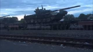 [1059] Состав русских танков Т 72 возле границы Украины. Суджа 11.07.2014