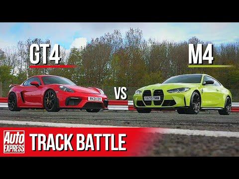 BMW M4 Competition vs Porsche Cayman GT4   Steve Sutcliffe Track Battle