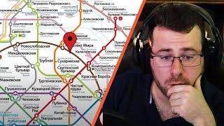 German reacting to Реакция немца на московское метро [Русские субтитры]