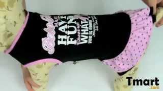 $4.86 Pet Dog Skirt Printed Dress Black Size Xl-15001238