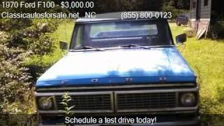1970 Ford F100 Pickup for sale in Nationwide, NC 27603 at Cl #VNclassics