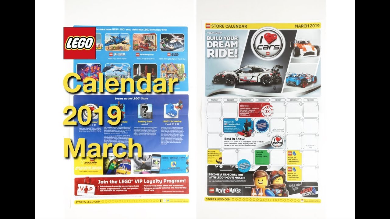 NEW LEGO Store Calendar 2019 March   YouTube